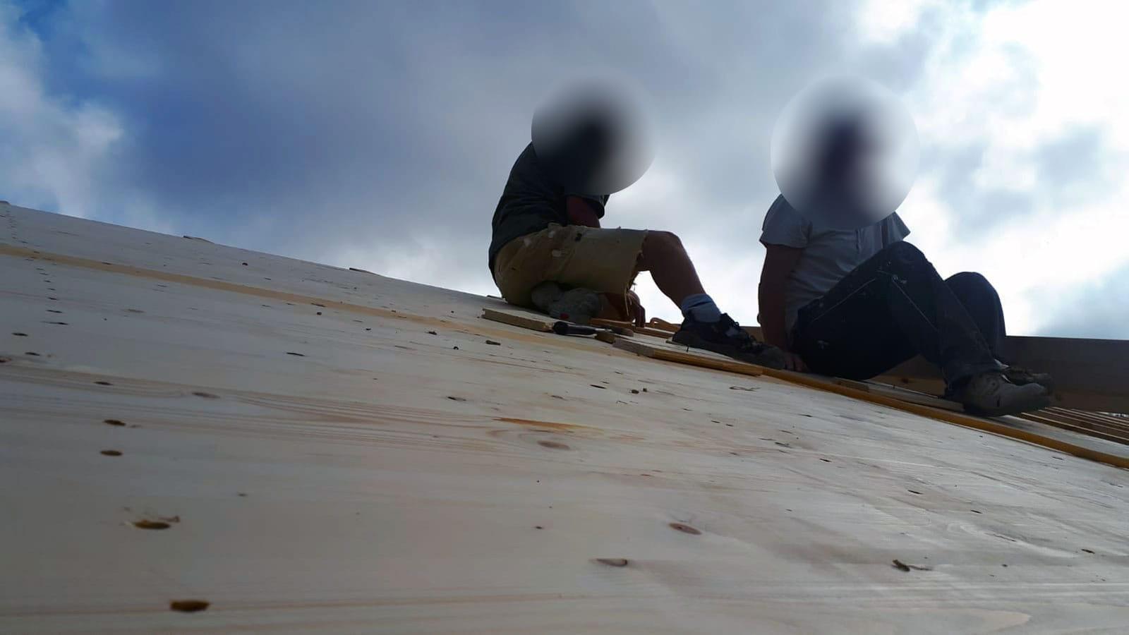 Días del 27 al 29 - Aspecto del trabajo desde el techo