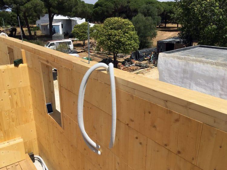 Dias 14 y 15 - Corrugados para el cableado eléctrico